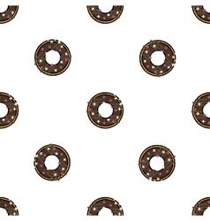 Doughnut flat pattern vector image