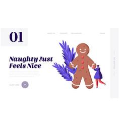 festive winter season celebration website landing vector image