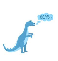 funny hand drawn dinosaur tyrannosaurus cartoon vector image