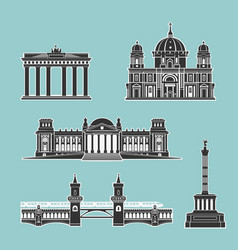 german historical monuments of architecture vector image