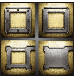 golden background set vector image