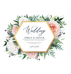 gorgeous floral wedding invite party invitation vector image