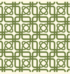 Green and white kaleidoscope seamless pattern vector