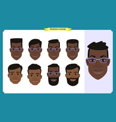 group of working people business black american vector image