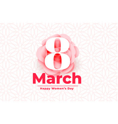 Happy international womens day event background vector
