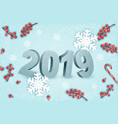 happy new year background with a 2019 and vector image
