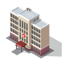 hospital and ambulance building vector image