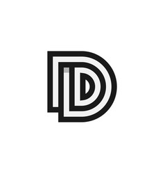 initial d logo design inspiration vector image