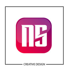 initial letter ns logo template design vector image