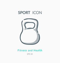 Iron weight icon on white background vector