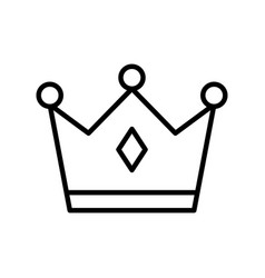Isolated royal crown line style icon design vector