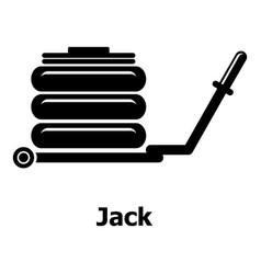Jack icon simple black style vector