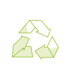 Line environment care symbol to protection of vector