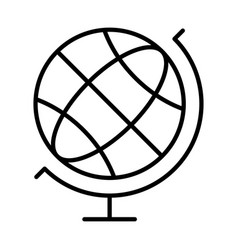 linear simple globe navigation equipment icon vector image