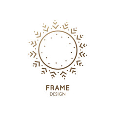minimalistic abstract frame snowflake logo vector image