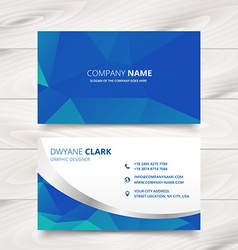 Modern business card design in triangle patterns vector