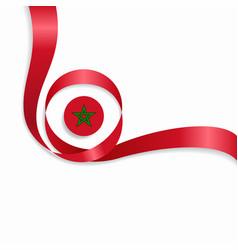 Moroccan wavy flag background vector