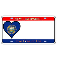New hampshire license plate vector