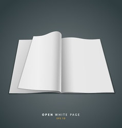 Open white page vector image