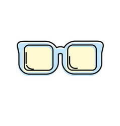 Optical glasses to can see better vector