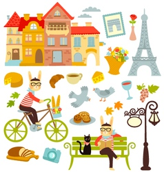Paris collection vector image