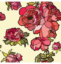 pattern with flowers rose vector image