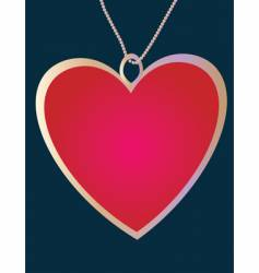 pendant of the heart vector image