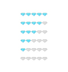 rating from blue diamonds vector image vector image
