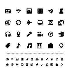 Retina travel and entertainment icon set vector