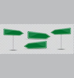 road sign isolated on transparent background blank vector image