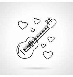 Romantic serenades flat line icon vector image