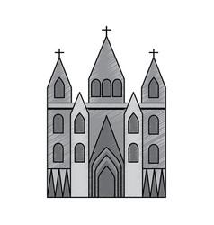 Sagrada familia gaudi basilica temple church in vector