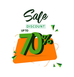Sale discount up to 70 template design vector