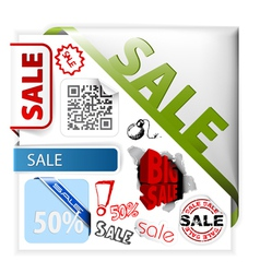 sale icons vector image