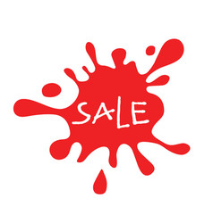 sale red splat isolated vector image