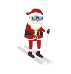 Santa claus christmas icon vector