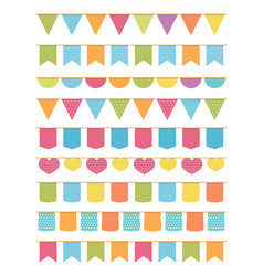 seamless bunting vector image