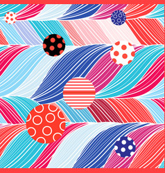 seamless color brightly wavy pattern vector image