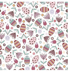 Seamless pattern with cute elements for easter vector