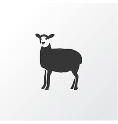 Sheep icon symbol premium quality isolated lamb vector
