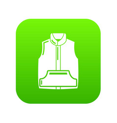 sleeveless jacket icon green vector image