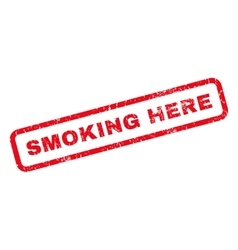Smoking Here Rubber Stamp vector