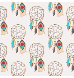 Spiritual and magic dreamcatcher seamless pattern vector
