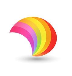 Style rainbow shape vector