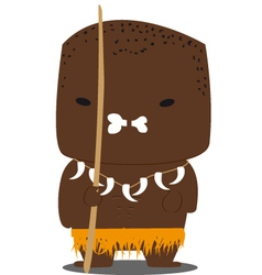Tribe african vector image
