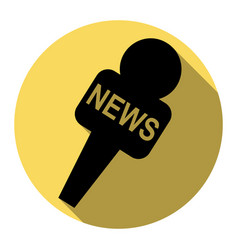 tv news microphone sign flat vector image
