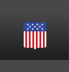 united states flag coat arms vector image