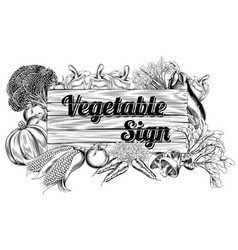 Vegetable produce sign vector