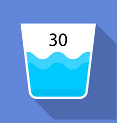 wash at 30 degrees icon flat style vector image