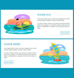 water fun sport color banner vector image